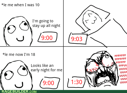 bed time Rage Comics sleeping staying up - 5591160320