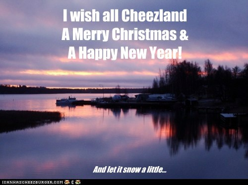 I wish all Cheezland  A Merry Christmas & A Happy New Year!