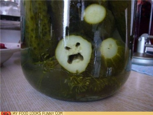 angry bitter face jar pickle - 5591447296