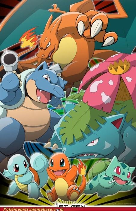 all the gens art Pokémon poster - 5591559168