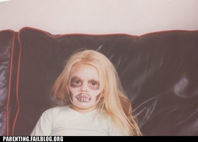 costume face paint halloween How to Dress Your Child misfits Parenting Fail scary