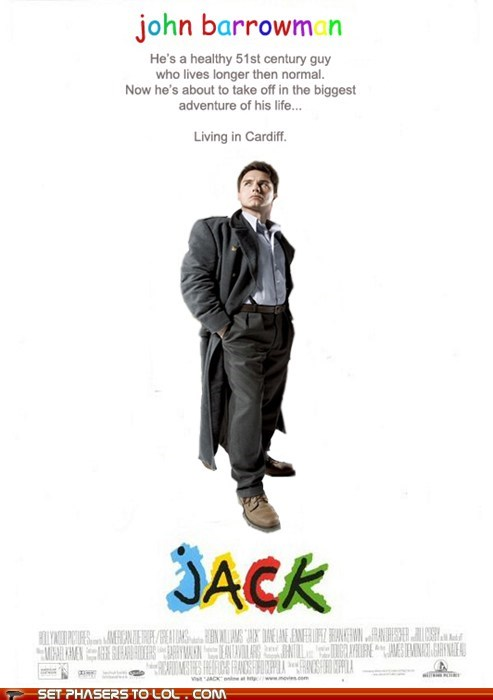 Captain Jack Harkness cardiff jack john barrowman movie poster robin williams Torchwood - 5591719168