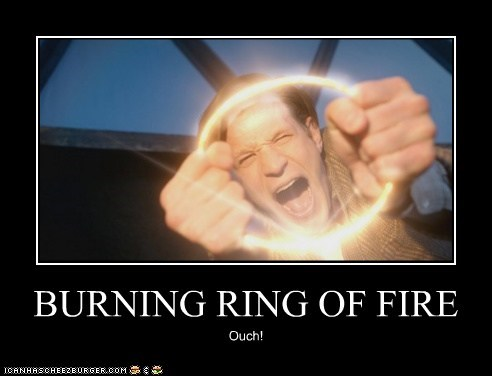 burning,doctor who,fire,Matt Smith,ouch,ring of fire,the doctor