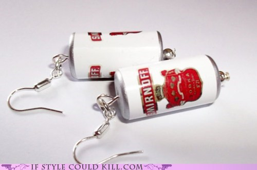 cool accessories earrings smirnoff vodka - 5591977472