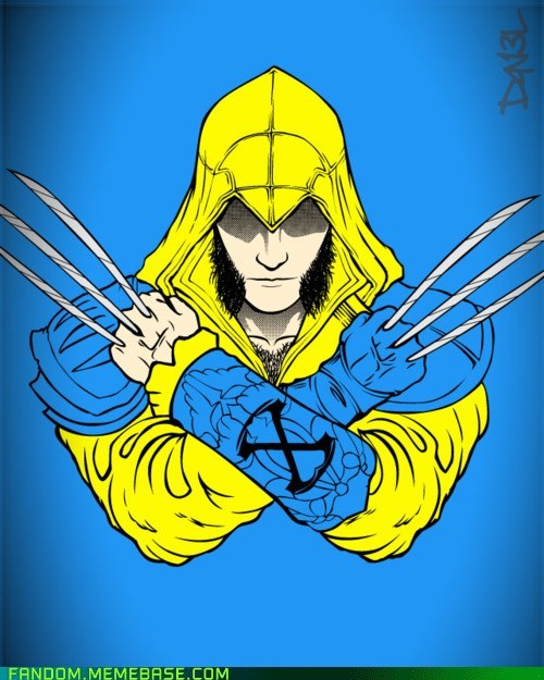 assassins creed best of week crossover Fan Art video games wolverine xmen - 5592051456
