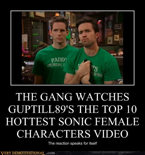 THE GANG WATCHES GUPTILL89'S THE TOP 10 HOTTEST SONIC FEMALE CHARACTERS VIDEO The reaction speaks for itself