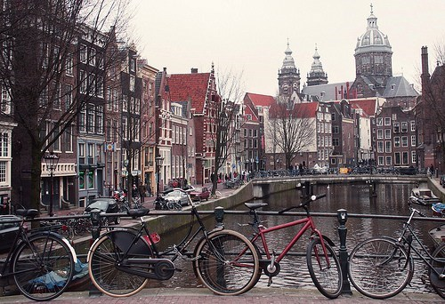 Amsterdam,bikes,canal,city,europe,getaways,Netherlands