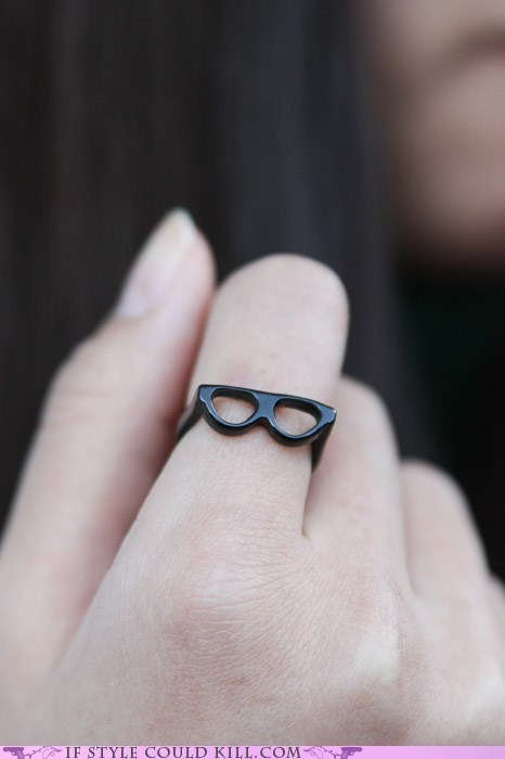 cool accessories - glasses - Ring of the Day: Sexy Librarians and Other Fantasies