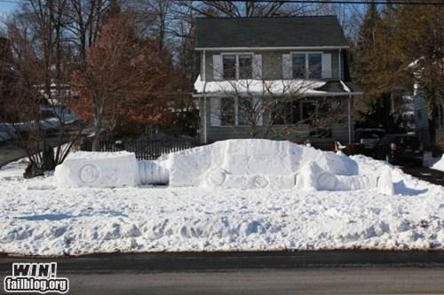 at at Hoth nerdgasm sculpture snow snowman star wars - 5592185088