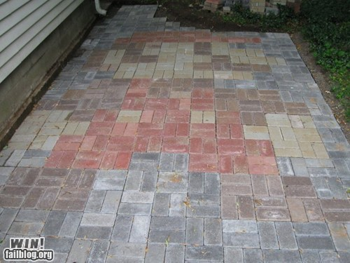 8 bit design g rated mario nerdgasm nintendo patio Super Mario bros tile win - 5592205568