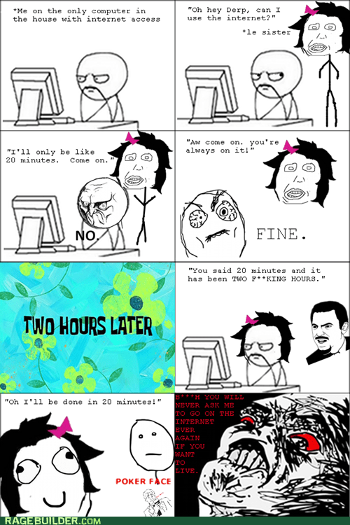 internet,poker face,Rage Comics,sibling