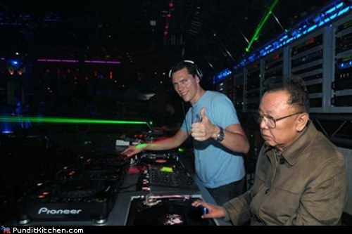 bass,djs,dubstep,Kim Jong-Il,North Korea,political pictures