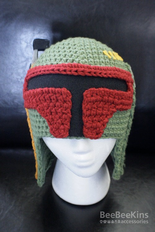 boba fett,etsy,hat,helmet,knitting,merch,movies,star wars