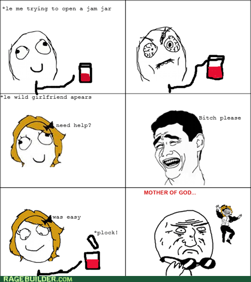girlfriend,jam,jar,mother of god,Rage Comics