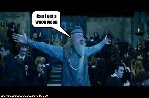 dumbledore,Harry Potter,Hogwarts,Michael Gambon,wizard,woop woop