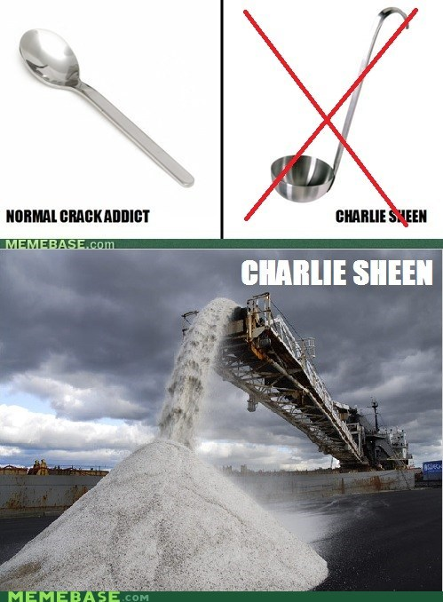 Charlie Sheen,crack,rolls,sand,the white stuff