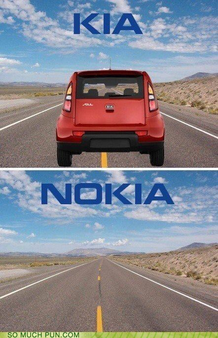 brands,double meaning,Hall of Fame,kia,literalism,nokia,prefix