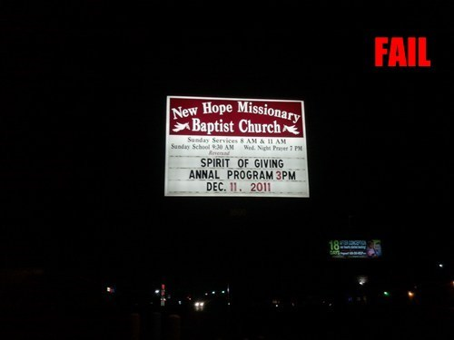 church signs innuendo religion signs - 5594326016