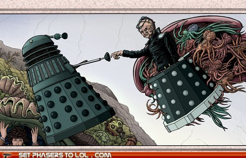 creation daleks doctor who The Creation of Adam the doctor tom baker - 5594803712
