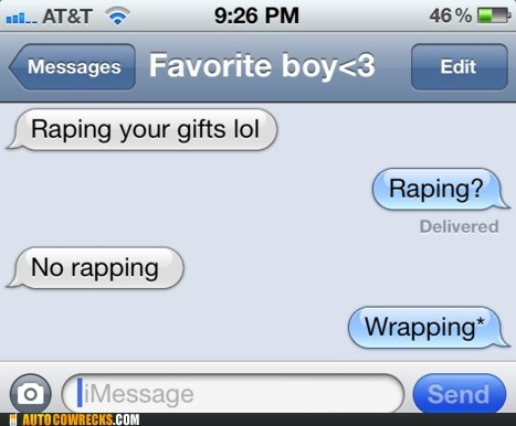 gifts rapping spelling typo wrapping