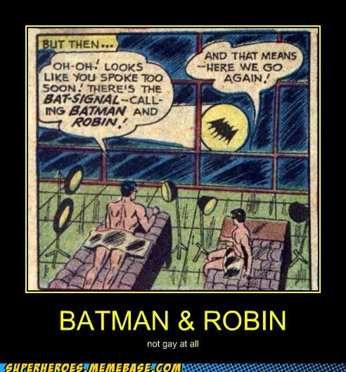 batman not gay robin Super-Lols tanning wtf - 5595445760