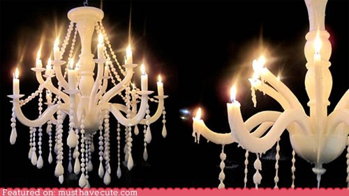 candle chandelier Drip fire melt wax - 5595568128