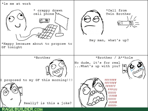 Awkward proposal Rage Comics twins