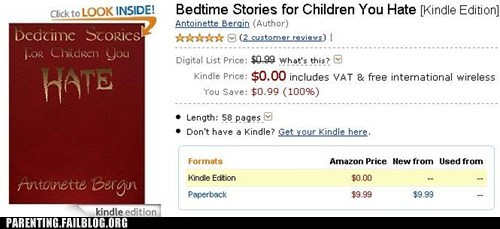 bedtime story book horror kids book parenting Parenting Fail present scared story