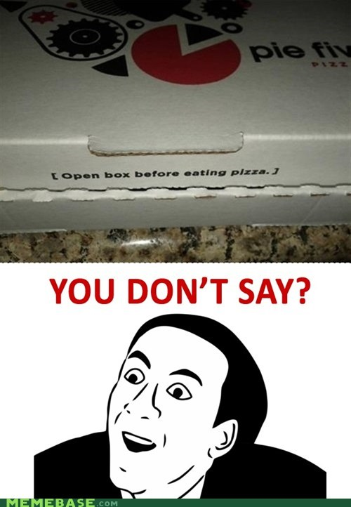 box pizza Rage Comics you dont say - 5596275456