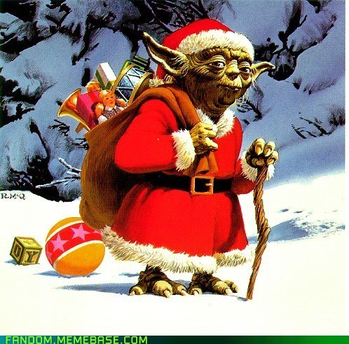 christmas Fan Art santa star wars yoda - 5596352256