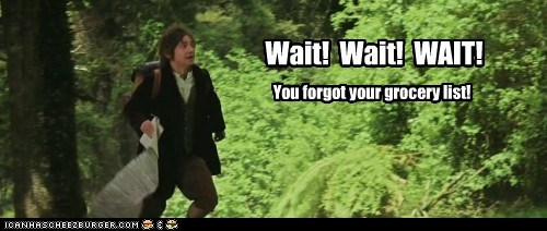 Bilbo Baggins,forgot,grocery list,Martin Freeman,The Hobbit,wait
