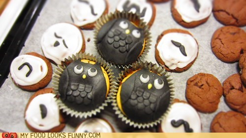 baking cookies fondant hipsters icing moustache Owl - 5596471040