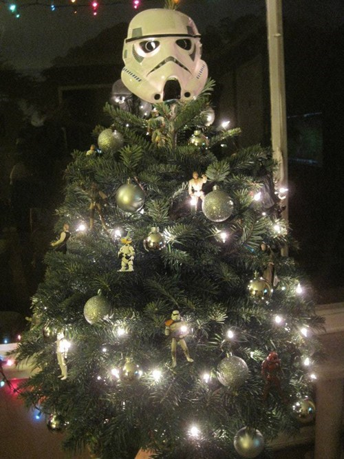 christmas decorations,christmas tree,nerdgasm,star wars,stormtrooper