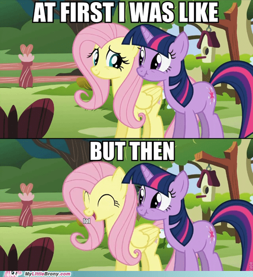 but then i fluttershy lol meme yay - 5596761856