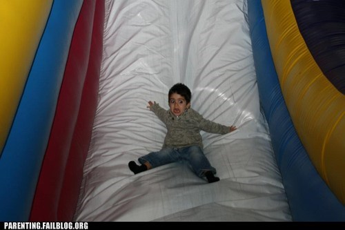Parenting Fail ride scared screaming slide toddler - 5596796416