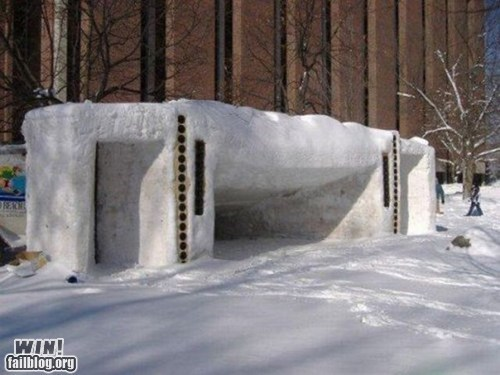 fort,ice,igloo,sculpture,snow,winter
