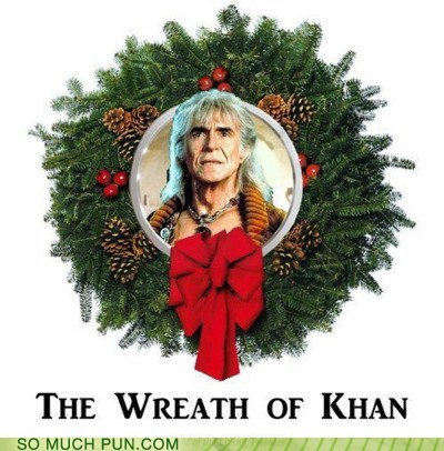 khan literalism similar sounding Star Trek wrath of khan wreath - 5597019904
