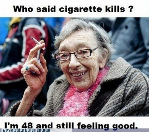 after 12,aging,cigarettes,healthy,old people,Party,smoking