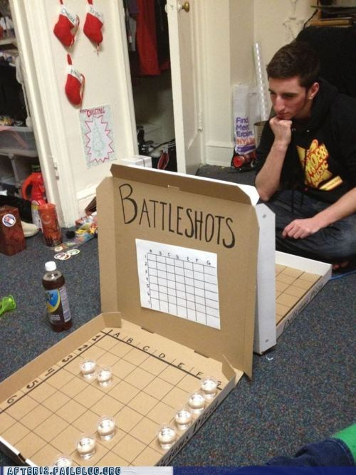 after 12,alcohol,battle shots,cardboard,drinking game,g rated,Party,recession