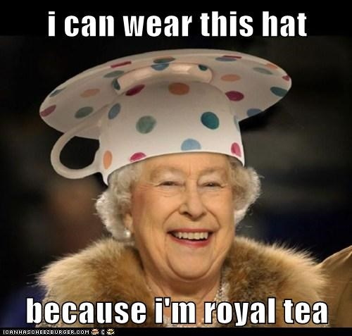 i can wear this hat because i'm royal tea