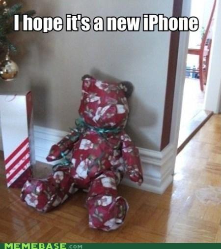christmas iphone Memes present - 5597430272