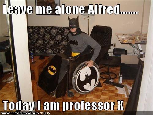 alfred,batman,professor x,psychic,Super-Lols