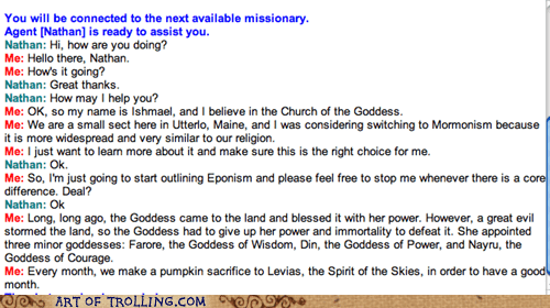 goddess Mormon Chat pumpkins religion - 5597925120