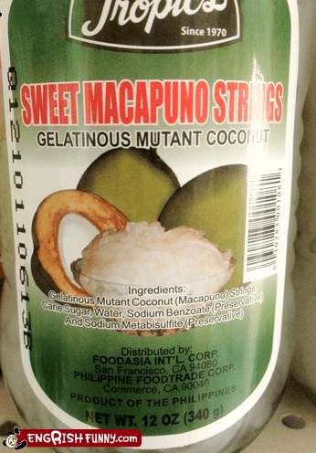 Appetizing,mutant coconut,Supervillain pantry