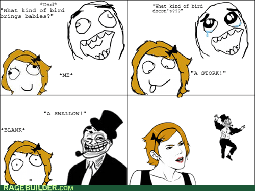 birds,Rage Comics,swallow,that sounds naughty,troll dad