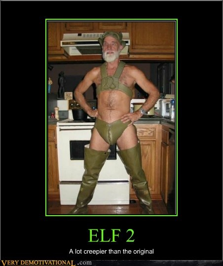 creepy guy elf eww leather Terrifying wtf