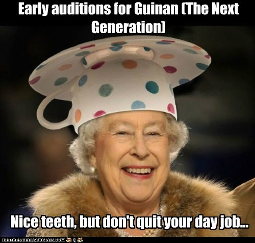 Early auditions for Guinan (The Next Generation) Nice teeth, but don't quit your day job...