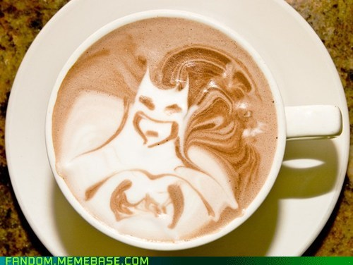 batman coffee coffee art DC Fan Art fandom superheroes - 5598404608
