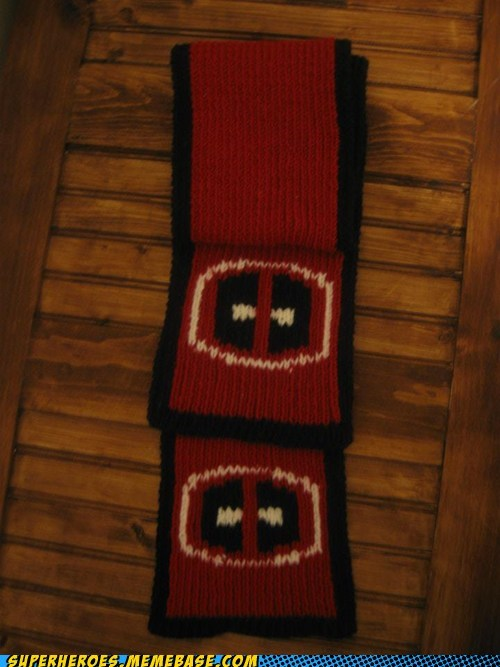 clothing deadpool Random Heroics scarf wtf - 5598419712