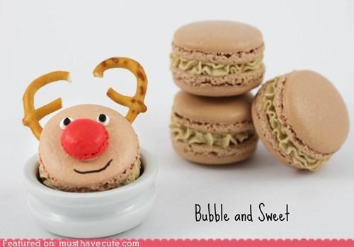 cookies,epicute,macaron,reindeer,rudolph
